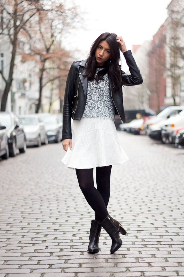 le-fashion-blog-how-to-wear-a-skirt-in-winter-wavy-hair-moto-jacket-lace-top-white-skirt-tights-ankle-booties-not-your-standard-kayla